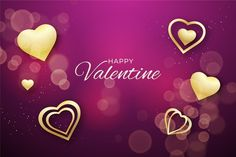 Banners, Valentines Day Background, Vector Free, Heart, Aesthetics, Beautiful, Posting On Facebook, Golden Background, Luxury Bed Frames