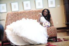 Beautiful Nigerian Bride♥ white church wedding dress