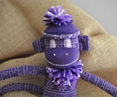 Furman University Sock Monkey! by ChickSprings on Etsy, $21.95