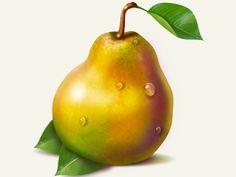 Pear Vector Illustration #pear #illustration