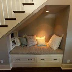 Cool understairs nook.