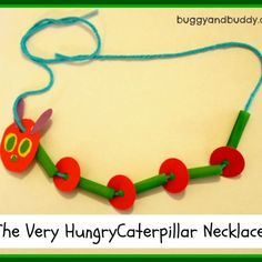 The Very Hungry Caterpillar Necklace Craft | Buggy and Buddy