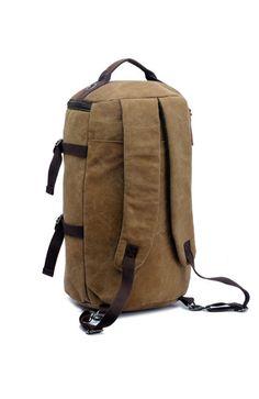 e81955c30521 Vintage Canvas Backpack Outdoor Travel Hiking Rucksack Messenger Shoulder  Bag
