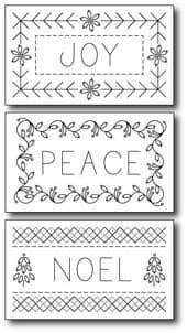 Gift tag/ornaments embroidery pattern FREE from about.com this would make a pretty standalone gift