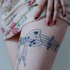 music note tattoo | interesting around an ankle and foot