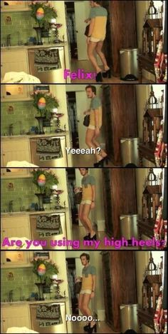 When Pewds wore Marzia's High heels XD