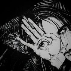 Dark Anime, Arte Horror, Horror Art, Aesthetic Anime, Aesthetic Art, Art And Illustration, Manga Art, Anime Art, Art Sketches