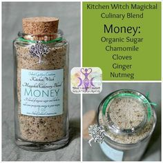 Stir some magick into your recipes with the Kitchen Witch Magickal Culinary Blends from Inked Goddess Creations. Each herbal blend has been specially formulated with herbs to suit each intent. Jar Spells, Magick Spells, Luck Spells, Wiccan Witch, Herbal Kitchen, Witch Bottles, Herbal Magic, Magic Herbs, Baby Witch