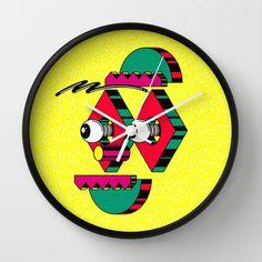 Face I Wall Clock by Josep Prat Sorolla - $30.00
