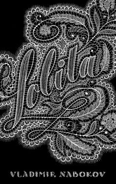 """Lacy """"Lolita"""" book cover by Jessica Hische Jessica Hische, Buch Design, Art Design, Graphic Design, Type Design, Design Web, Types Of Lettering, Hand Lettering, Lettering Styles"""