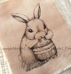 Michelle Palmer bunny rabbit spring egg