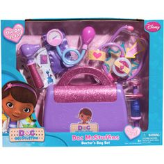 DAUGHTER'S - Disney Doc McStuffins Doctor's Bag - Purple and Pink - $ 15.  http://www.walmart.com/ip/Disney-Doc-McStuffins-Doctor-s-Bag/26678593