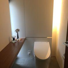 Excite Your Visitors with These 14 Cute Half-Bathroom Layouts Bathroom Design Small, Bathroom Layout, Bathroom Designs, Bathroom Ideas, Modern Toilet, Concrete Sink, Toilet Room, Japanese Modern, Toilet Design