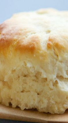 Light Fluffy Angel Biscuits // 1 envelope quick rise yeast 2 tablespoons warm water 1 cups all purpose flour 1 cup cake flour 1 tablespoons sugar teaspoon salt 3 teaspoons baking powder cup vegetable shortening, chilled 1 cup cold buttermilk Angel Biscuits, Biscuit Bread, Homemade Biscuits, Scones, Sweet Bread, Bread Baking, Muffins, Baking Recipes, Amish Bread Recipes