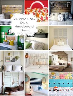 Fantastic collection of diy headboards. Just when I started to think I was clever . . .