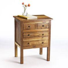 Reclaimed Teak Four Drawer Side Table (India) @Overstock.com.com