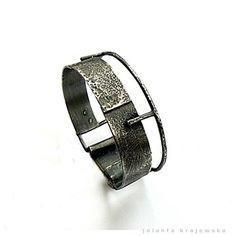 sterling silver raw industrial bracelet by jolantakrajewska, $360.00