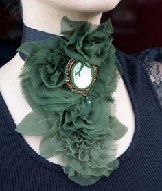 Victorian green Jabot by Pinkabsinthe.deviantart.com on @deviantART