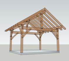 14x16 Timber Frame Plan - Timber Frame HQ
