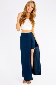 IN AND OUT MAXI SKIRT