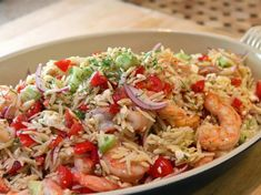 Mediterranean Shrimp and Orzo Salad : Recipes : Cooking Channel Recipe Kelsey Nixon Cooking Shrimp And Quinoa, Shrimp Orzo, Shrimp Salad, Orzo Salat, Healthy Summer Recipes, Yummy Recipes, Dishes Recipes, Meal Recipes, Salads