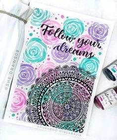 Mandala Art Therapy, Mandala Art Lesson, Mandala Artwork, Cute Doodle Art, Doodle Art Designs, Doodle Art Drawing, Art Drawings Beautiful, Cool Art Drawings, Easy Mandala Drawing