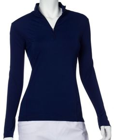 Unique, Pretty Colors are the highlight of the EP New York ladies golf collection just like this ESSENTIALS (Assorted Colors) EP New York Ladies & Plus Size Long Sleeve Zip Mock Golf Shirts!