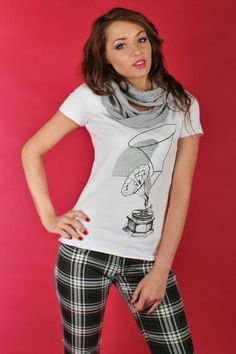 Koszulka z nadrukiem - gramofon MADISSO M