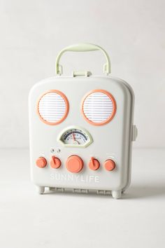 Sunny Life Beach Radio, anthropologie: Tuck your MP3 player inside this water-resistant AM/FM speaker box for your worry-free listening pleasure. #Radio
