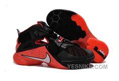 pretty nice 03939 2cb6b Mens Nike LeBron Soldier 9 Black Red Basketball Shoe Nike Basketball Shoes,  Soccer Jerseys,