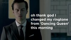 """""""Jim Moriarty--so changeable."""" This is much more amusing than it should be."""