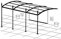 The wooden pergola is a good solution to add beauty to your garden. If you are not ready to spend thousands of dollars for building a cozy pergola then you may devise new strategies of trying out something different so that you can re Iron Pergola, Garage Pergola, Rustic Pergola, Curved Pergola, Pergola Attached To House, Pergola Swing, Metal Pergola, Deck With Pergola, Cheap Pergola