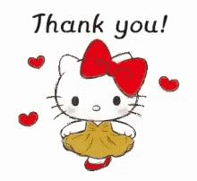 LINE Official Stickers - Hello Kitty Polite Stickers Example with GIF Animation Thank You Gifs, Thank You Pictures, Thank You Wishes, Thank You Images, Cute Love Pictures, Cute Love Gif, Hello Kitty Art, Hello Kitty My Melody, Animiertes Gif