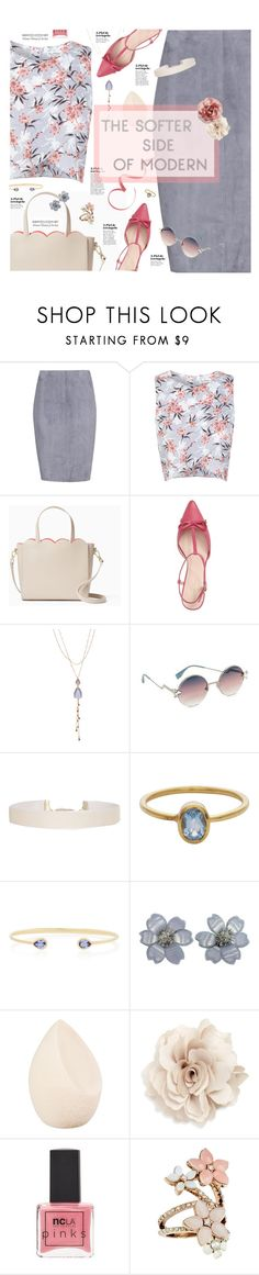 """""""Soft"""" by happilyjynxed ❤ liked on Polyvore featuring Jitrois, Miss Selfridge, Kate Spade, Oori Trading, Fendi, Humble Chic, AYA, Van Cleef & Arpels, Christian Dior and Cara"""