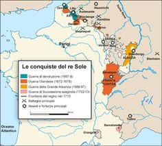 Le conquiste del re Sole #realisations #achievements #conquiste #roiSoleil #SunKing #reSole
