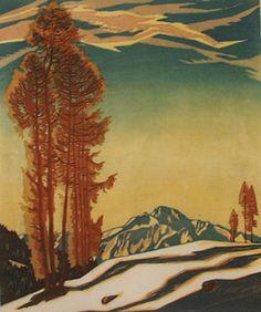 Engelbert Lap (1886-1970) - Near Seefeldt, Austria, 1925