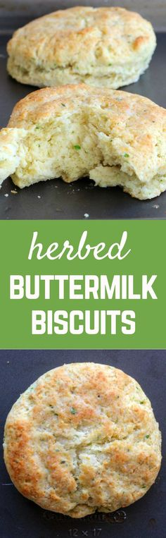 These herbed buttermilk biscuits are a great twist on your typical biscuit. Flaky, buttery layers with fresh herbs thrown in to break up the richness. Get the recipe on http://RachelCooks.com