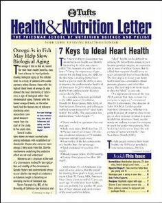 Tufts University diet & nutrition letter [recurs electrònic]. New York, N.Y. : Tufts University Diet and Nutrition Letter, 1983-c1997.