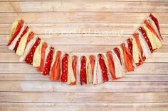 Classic Christmas  Shabby Chic Rag Tie Banner by ThePickledPeanut, $25.00