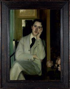 Jacques Emile BLANCHE (1861 - 1942).  Portrait d'André Gide ou André Gide à 21 ans, vers 1890. Huile sur toile, 107 x 73cm.