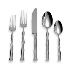 Michael Lloyd Bamboo Flatware 5-Piece Place Setting - BedBathandBeyond.com