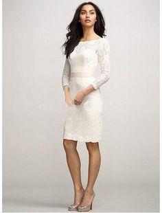 encaje-corto-fajascinturn-escote-a-la-base-corte-princesa-vestido-de-novia-civil-tdyl16-bodabaratos-1-380x500.jpg (380×500)