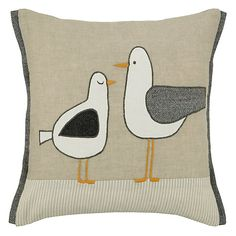 Buy John Lewis Standing Seagulls Cushion Online at johnlewis.com