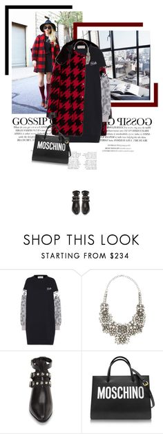 """Be Awesome!"" by veronicamastalli ❤ liked on Polyvore featuring Être Cécile, Valentino, Yves Saint Laurent and Moschino"