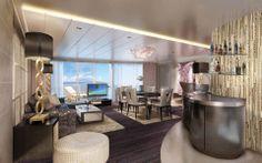 Deluxe Owner's Living Room, Norwegian #Escape. #Vacation #Luxury