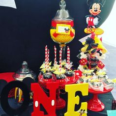 Mystique R's Birthday / Mickey Mouse / Minnie Mouse - Photo Gallery at Catch My Party Mickey Mouse Backdrop, Mickey Mouse Theme Party, Mickey Mouse First Birthday, Mickey Mouse Clubhouse Birthday Party, 1st Boy Birthday, 1st Birthday Parties, Birthday Ideas, Party Ideas, Age