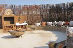 boma braai area - Google Search Outdoor Living Rooms, Outside Patio, Fire Pit Designs, Outdoor Furniture Sets, Outdoor Decor, Outdoor Lounge, Luxury Camping, Garden Pool, Backyard Landscaping