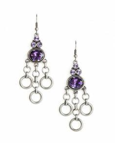 Sold Out BNIB Jewelmint Baltic Gem Silver Amethyst Earrings Kate Bosworth | eBay