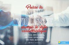 Puisse la non-violence devenir le style caractéristique de nos décisions, de nos relations, de nos actions.  Pape François @Pontifex_fr 8 déc. #PapeFrancois #Pontifex ➡ RDV sur pontifexenimages.com pour recevoir les images par ✉ email