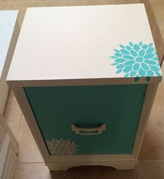 Custom Painted Furniture For Girl's Bedroom - Diy Furniture Projects, Repurposed Furniture, Painted Furniture, Girls Bedroom Furniture, Bedroom Ideas, Teen Bedroom, Bedroom Decor, Buffet, Girl Desk